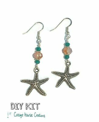 Starfish ~ Crystal Dangle Earring Jewelry Making Step by Step Instruction Kit