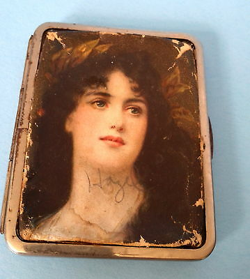 ANTIQUE VICTORIAN c.1800s LADY'S CALLING CARD CASE WITH CLASP