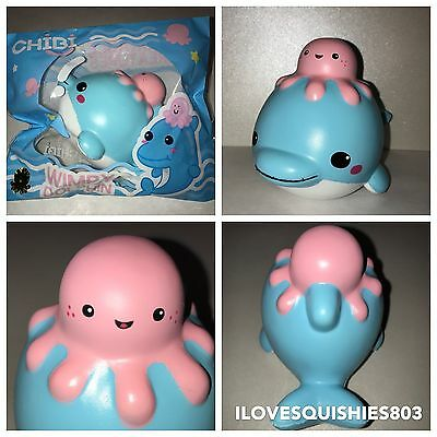 Wimpy the Dolphin with Octopus Squishy Scented Slow Rise