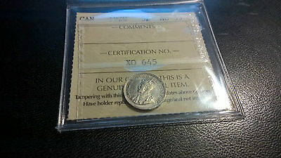 1920 Canada Silver Nickel 5 Five Cent Graded Coin Au Almost Uncirculated!