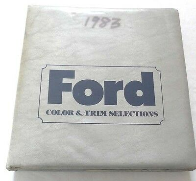 1983 Ford Car And Truck Color And Trim Selections Dealer Album Book Mustang More