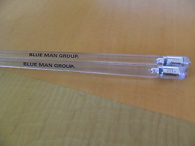 Blue Man Group LUMI Drumsticks Clear Battery Operated Lighted Blue Firestix LED