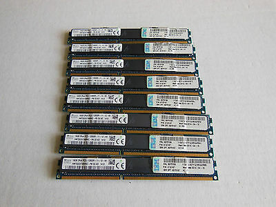 IBM 128Gb (8pcs x 16Gb) FRU 90Y3159 PC3-12800R 1600Mhz ECC low Profile Reg.