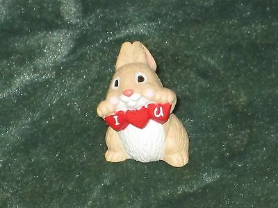 Hallmark Merry Miniature 1994 I Love You Rabbit - Valentine - NEW