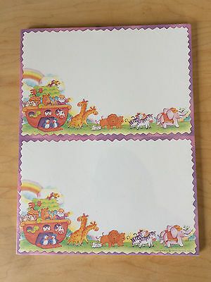 """New KINKO'S Specialty Papers 2-Up Panel Cards 5 1/2"""" x 8 1/2"""", NOAH'S ARK"""