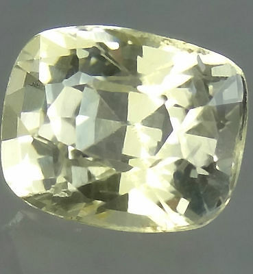 Unheated Ceylon Natural Yellow sapphire 1.57cts cushion cut Loose gemstone