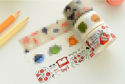 Tomato food oven plant Washi Masking Tape stickers Scrapbooking Decal label diy