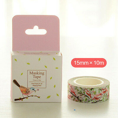 Charactizing a fine spring bird Washi Masking Tape Scrapbook Label Decal gift jy