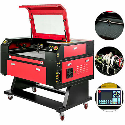 USB Port 80W Laser Engraving Machine CO2 Engraver Cutter Auxiliary Rotary Device