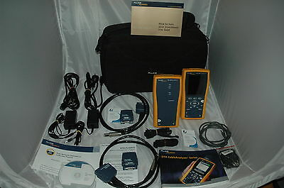 Fluke DTX 1200 Cable Analyzer 10Gig + 2 CAT6a Channel Adapter - nur 1 Set !!!