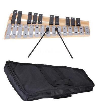 25 Note Glockenspiel Xylophone Percussion Gift + Carrying Bag AU Stock