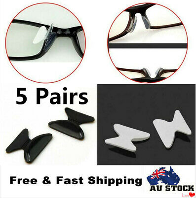 5 Pairs Anti Slip Silicone Nose Pads for Eyeglasses Sunglass Glass Spectackles