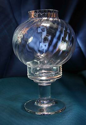Vintage Dartington Crystal  Frank Thrower FT382 Victoria Candlelamp Ripple