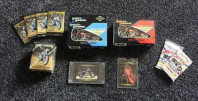 Harley Davidson Playing Cards with Tins, and Trading Cards