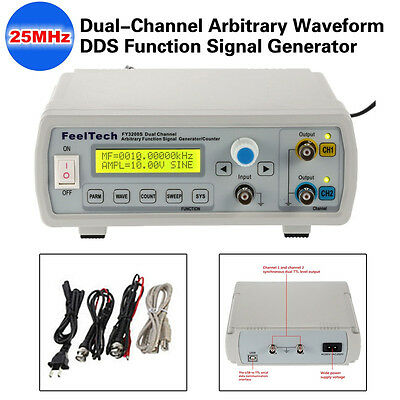 Mutilfunction FY3200S Digital 2-Channel DDS Signal Generator Frequency Meter±10V