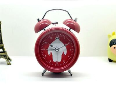 New Lovely Vintage Metal Wind Up Twin Double Bell Desk Table Alarm Clock