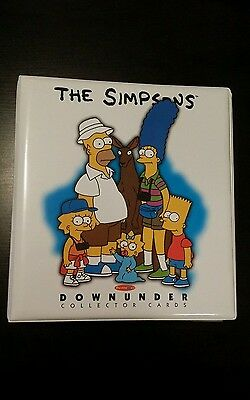 Simpsons Downunder Card Collection Official Album with base set and inserts