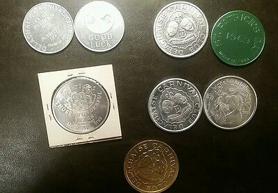 lot of 8 DELACHAISE Carnival Club Mardi Gras & St. P doubloons