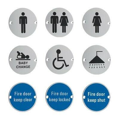 Facilities Door Sign, Toilet, WC, Fire, Male, Female, Disabled, Shower, Baby, 3""