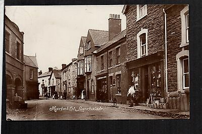 Llanrhaiadr - Market Street - real photographic postcard