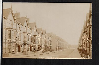 Rhyl - River Street - real photographic postcard