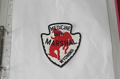 Arrow Shaped shoulder Patch from Medicine Bow Marshal's Ofice Utah