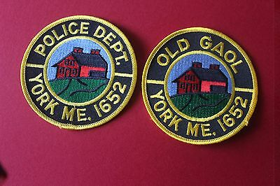 2 Shoulder Patches from York Pollice Department Maine