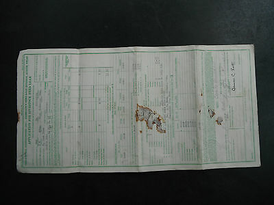 State of Texas Application for Livestock feed Loan 1935