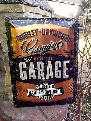 Official HARLEY-DAVIDSON Motorcycles GARAGE since 1903 Metallic LARGE WALL SIGN