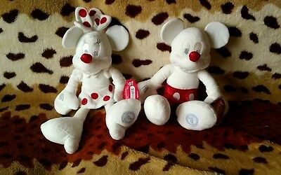 Official Disney store soft toy s Micky&Minnie mouse