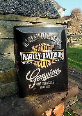 Official HARLEY-DAVIDSON Motorcycles GENUINE Embossed Wall Sign Made in Germany