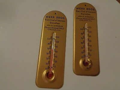 """Vintage 5.5"""" Thermometer Lot of 2"""