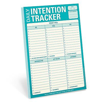 Knock Knock Daily Intention Tracker Note Pad NEW