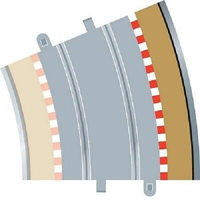SCALEXTRIC - C8238 - Radius 4 Curve Outer Borders 22.5 degree-4 PER PACK-LOOK!!!