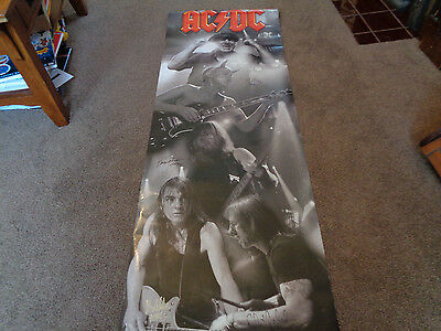 "Ac /dc Autograph Signed Huge 62"" Poster ..all Five Members Checked By Epperson"