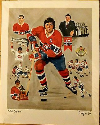 Montreal Canadiens lithograph/litographie Michel Lapensee S. SAVARD (122/1000)