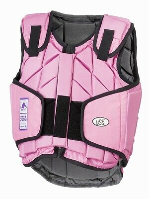 USG - eco-flexi adult horse riding body protector pretty pink