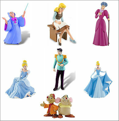 Official Bullyland Disney Cinderella Figures Figurines Toys Cake Topper Toppers