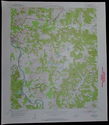 Paradise Kentucky Green River Rockport vintage 1955 old USGS Topo chart