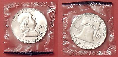 Proof Like 1962P US Franklin Silver 50 Cents Sealed in Cello