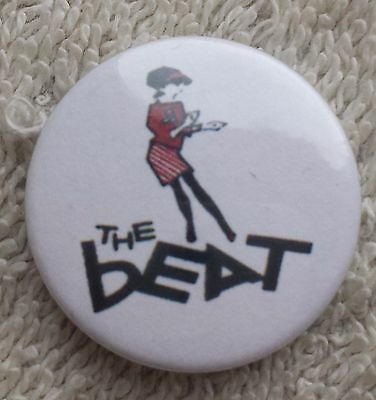 THE BEAT SKA BUTTON BADGE 2 Tone Music Reggae Logo Rude Boy Skinhead English