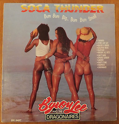 Byron Lee And The Dragonaires Soca Thunder Vinyl lp VG+/VG DY 3457 Rare Soca