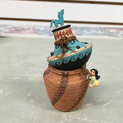 Friends of the Feather-Trinket Basket with Lid that has a Mini Girl Attached