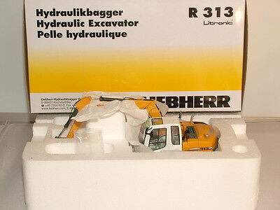 NZG No 678 Liebherr R 313 Tracked excavator ( steel tracks) New
