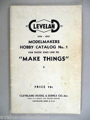 Cleveland Modelmakers CATALOG - 1936-1937 ~~ toy, toys, model airplane, hobby