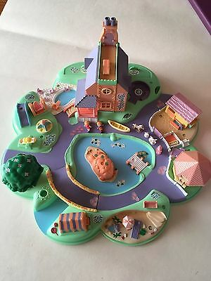 Vintage Polly Pocket Dreamworld By Bluebird With Dolls And Animals 1991
