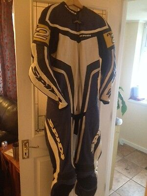 Spidi R2 Wind One Piece Motorcycle Leather Suit