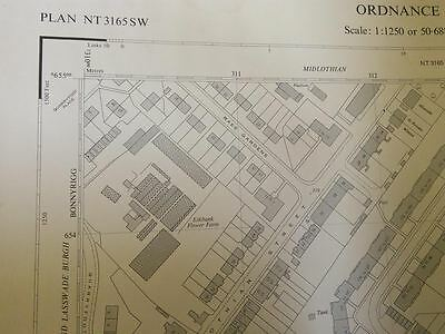 50 inches to the mile OS map sheet NT3165SW Bonnyrigg southeast (1966)