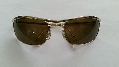 RAY BAN RB3119 POLARIZED GOLD METAL SUNGLASSES EARLY 2000s ORIGINAL VINTAGE