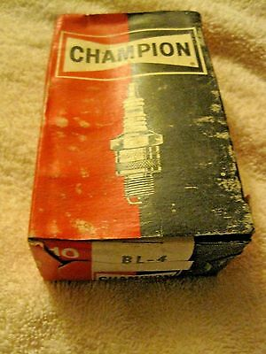 Vintage Champion NEW Old Stock BL-4  Spark Plugs Set of 10